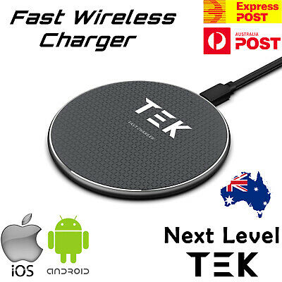 AU11.99 • Buy Qi Wireless Charger FAST Charging Pad For IPhone 12 11 Pro Samsung S21 S20 S10