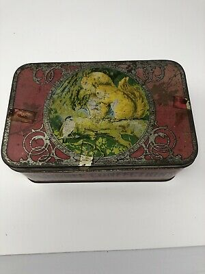 Vintage Sweet Tin, Squirrel Floral Gums, The Squirrel Confectionery Co • 10£