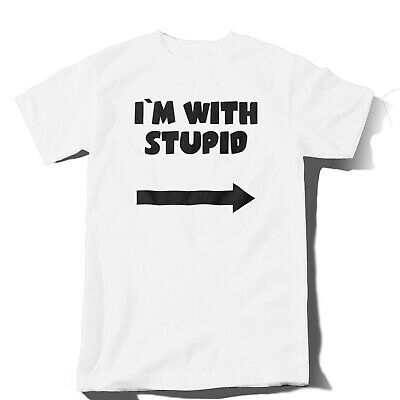 I`m With Stupid Rude Humor Funny Men T-shirt - Joke Gift Size S - 5XL • 14.99£