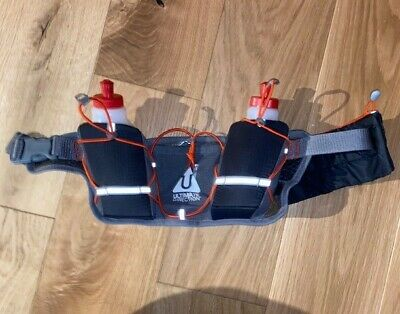 Runner's Hydration Belt 2 Bottles And Zipped Pouch - Excellent Condition • 9.99£