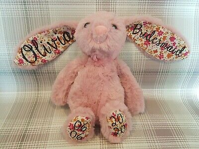 £15 • Buy Easter Present Personalised Supersoft Bunny Rabbit Plush Cuddly Toy Kids Gift