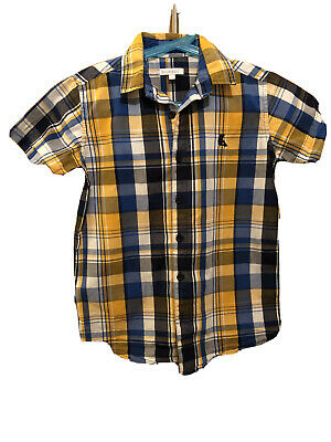 Boys Blue/Yellow/White Checked Shirt BLUE ZOO Size Age 9 • 0.99£