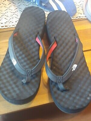 The North Face Womens Sz 9 Base Camp Wedge Flip Flops Thong Sandals Black • 14.30£