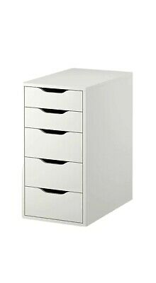Ikea Alex White 5 Drawer Units X2 Brand New In Sealed Boxes (pair) • 250£