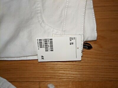 HM White Lace Up Jeans UK 10 New With Tags  • 6£