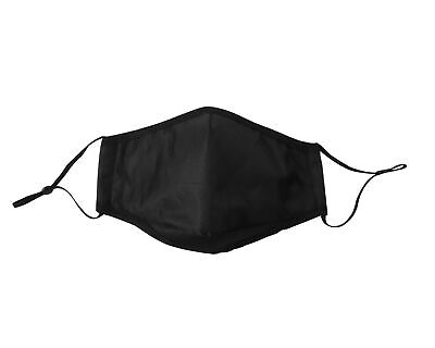 4 Ply Winter Washable Reusable Black Face Mask Dustproof Cloth Mouth Covering • 3.99£