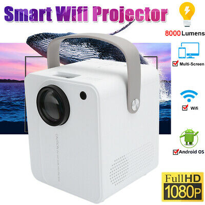 HD 1080P 4K LED Mini Projector For Laptop Andriod IPhone  Portable Home Theater • 84.79£