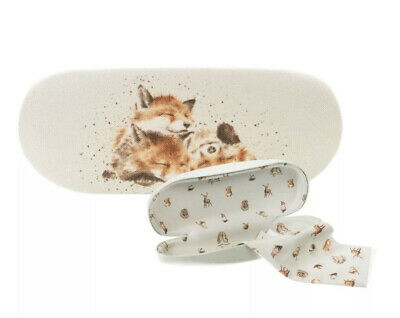 Wrendale Foxes Afternoon Nap Glasses Case - Illustrated Hard Spectacle Case • 9.95£
