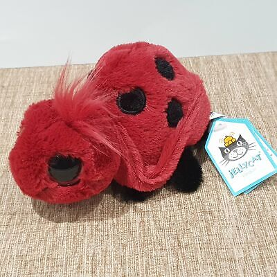 NEW Jellycat Frizzles Ladybird Soft Toy Plush BNWT • 49.99£