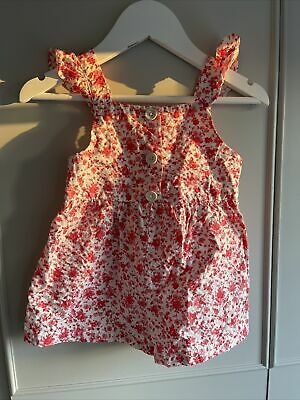 Zara Floral Dungarees Girls Size 2-3 Years • 3£