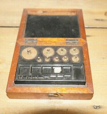 Vintage Brass Weight Set For Laboratory Balance Scales By Oertling Of London • 10.99£