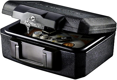 Fire Resistant Chest Security Box Heat Protection Storage Case Anti-theft Safe • 40.98£