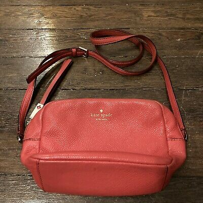 $ CDN35.30 • Buy Kate Spade Leather Crossbody Purse Hot Pink Coral Tassel