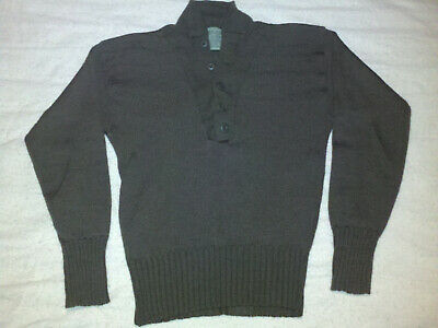 $15 • Buy US Military 100% Wool Army Jeep SWEATER 5 Button - MED