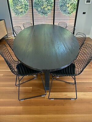 AU1600 • Buy Black Oval Dining Table & Chairs
