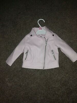 Baby Girls Pink Leather Jacket 3-6 Months  • 1.50£