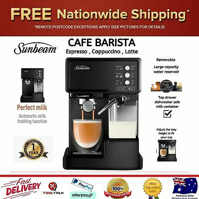 AU212.27 • Buy SUNBEAM Coffee Machine With Milk Frother Espresso Cappuccino Cafe Barista NEW