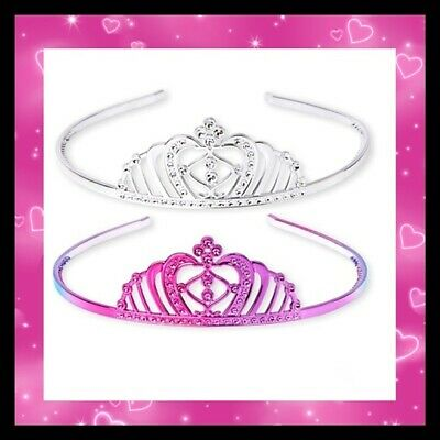 The Childrens Place Pink Crown Headband Lot Brand New Tiara Set Pink Silver WOW • 19.36£