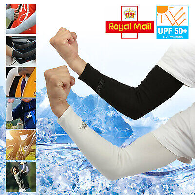 2 Pair Unisex Outdoor Sports Cooling Arm Sleeves Cover UV Sun Protection • 4.09£