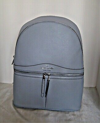 $ CDN187.35 • Buy KATE SPADE  - Karina Large Leather Backpack - Frosted Blue