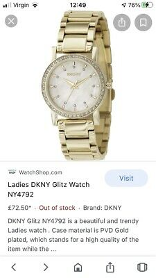 DKNY NY4792 Gold-tone Steel Bracelet Mother-of-Pearl Dial Women's Watch • 7.77£