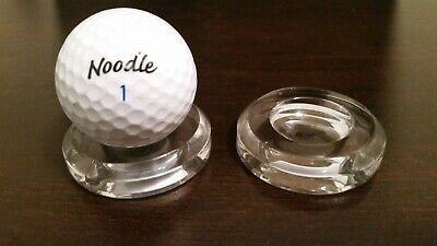 *1 Large 2  Round Dimple Display Stand For Golf Ball Golfballs Racket Hand Balls • 5.25£