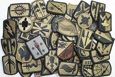 $47.66 • Buy Lot Of 50 Assorted U.S. Army Unit Insignia Military Patches Subdued W/ Hook-Back
