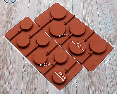 £2.99 • Buy Silicone Lollipop Mould Chocolate Round Candy Maker