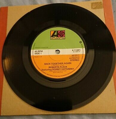 Roberta Flack Featuring Donny Hathaway Back Together Again 7  Vinyl Single 45rpm • 1£