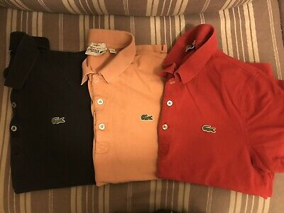Lacoste Polo Shirt Bundle - Medium - Size 4 • 27£