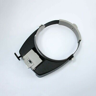 Head Set Loupe Glass Led Magnifier Visor Magnifying With Portable 3 Light Lamp • 14.99£