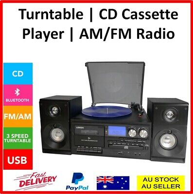 AU252 • Buy Stereo System Turntable Vinyl Record Player Cassette Recorder CD Bluetooth USB