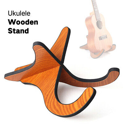 AU18.38 • Buy Fold Holder Ukulele Sturdy Violin Stand Musical Instrument Wood Elaborate AU