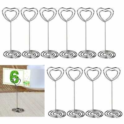 £8.34 • Buy Heart Pattern Table Number Name Card Holders Party Memo Photo Stand Note Clip UK
