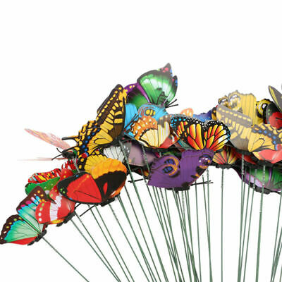 50x Garden Butterfly Ornaments Butterfly Decorations For Indoor Outdoor Decor UK • 4.99£