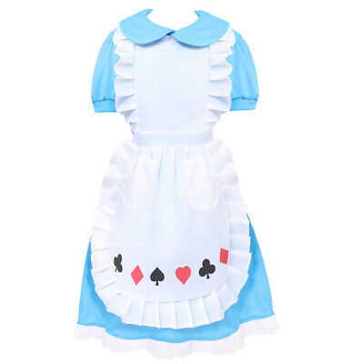 £9.99 • Buy Girls Alice In Wonderland Costume Child World Book Day Fancy Dress Kids Outfit