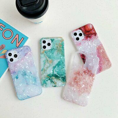 Luxury Sky Marble Phone Case Shell For IPhone 12 11 Pro XS Max 6s 7 8 + XR Cover • 4.09£
