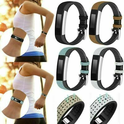 AU17.95 • Buy Black New Leather + TPU Band Bracelet Wrist Strap  For Fitbit Charge HR/Alta HR