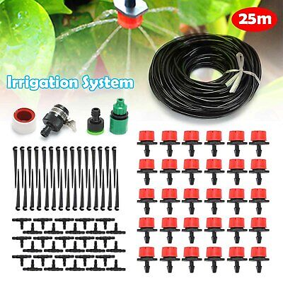 82ft Automatic Drip Irrigation System Kit Plant 25M Self Watering Garden Hose UK • 7.99£