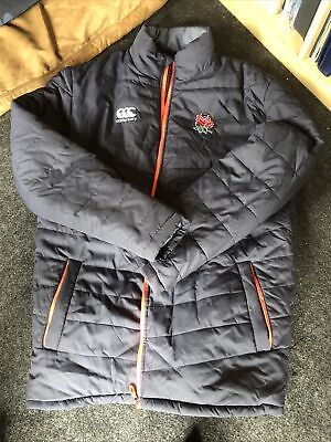 Canterbury England Rugby Player Issue Padded Jacket Size XL • 10.50£