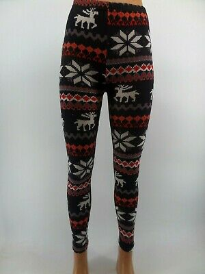 £3.50 • Buy Womens Ladies New Snowflake Print Leggings/Pants COLOURS RB11 W3 G4 R1 UK 8-12