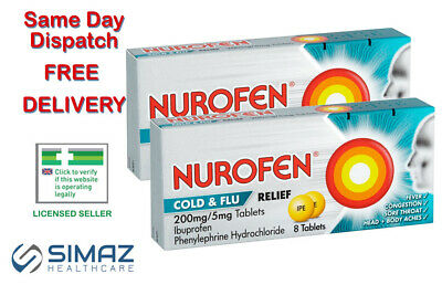 Nurafen Cold & Flu Relief Tablets 200mg/5mg • 4.85£