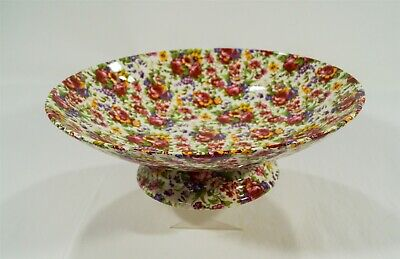 $ CDN11.39 • Buy Royal Winton Grimwades Summertime 1995 Chintz 12  Compote/Pedestal Bowl