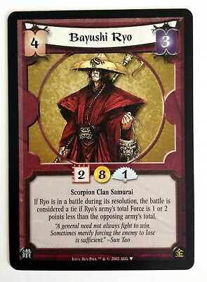 Bayushi Ryo L5R Legend Of The Five Rings CCG Gold Edition Promo • 3.54£