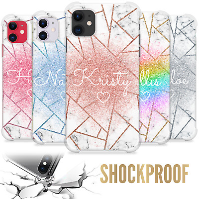 AU7.12 • Buy Personalised Case Marble Name Initials Shockproof Cover For Apple Iphone 11 Xr 8