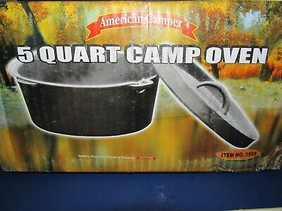 $ CDN24.80 • Buy Vintage NEW In Box American Camper 5 Quart Dutch Oven Cast Iron No 3906