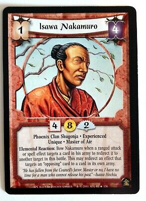 Isawa Nakamuro L5R Legend Of The Five Rings CCG A Perfect Cut • 2.48£