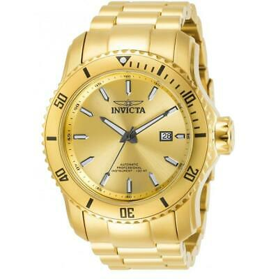 $ CDN1.24 • Buy Invicta Pro Diver 30549 Men's Round Gold-Tone Gold Dial Automatic Date Watch