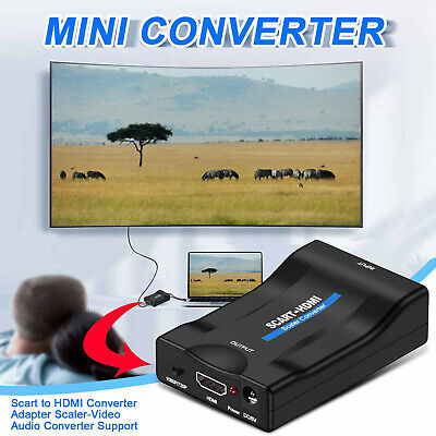 £7.98 • Buy Scart To HDMI Converter Adapter,S-CALER Video Audio Converter Support HDMI 1080P