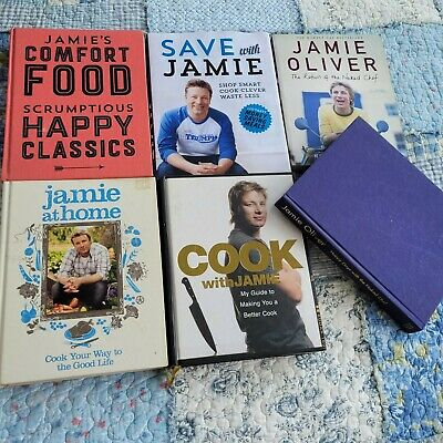 AU75 • Buy Bulk Jamie Oliver Cookbooks X 6 Recipe Books Cook Book Hardback